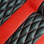 דוגמא בעיצוב אישי בצבעי שחור אדום בד מחורר